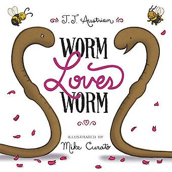 Worm Loves Worm by J. J. Austrian - Mike Curato - 9780062386335 Book