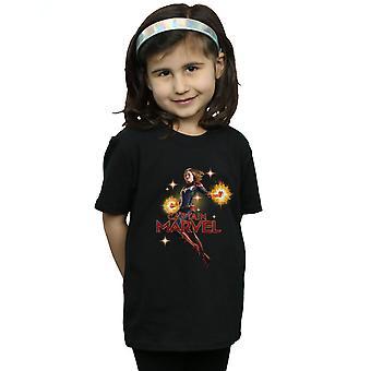 Marvel Mädchen Captain Marvel Carol Danvers T-Shirt
