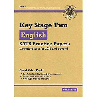 Nouveaux KS2 anglais SATS pratique papiers: Pack 3 (pour les essais en 2019)