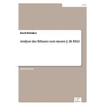 Analisar des Erlasses zum neuen 2b EStG por Reinders & Gerrit
