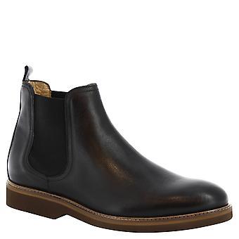 ليوناردو أحذية مان & s أحذية تشيلسي المصنوعة يدويا في الجلد الأسود