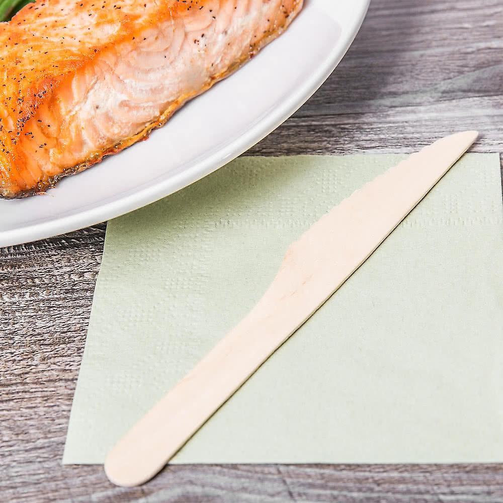 100 Wooden Knives Knife 16.5 Cm - Biodegradable Disposable Tableware 100 Pieces - Great For Parties Bbqs Picnics And Events !