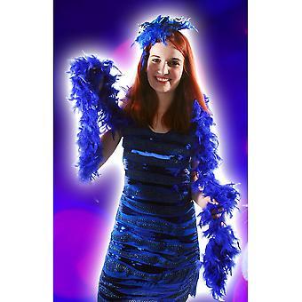 Boa and feathers  Blue boa