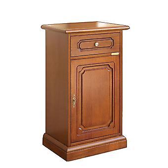 Porte de téléphone en bois avec tiroir et porte, style classique