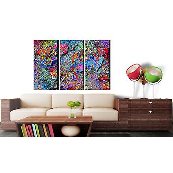Painting - World Map: Colourful Whirl90x60
