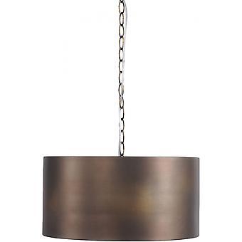 Libra Furniture Vintage Bronze Drum Pendant
