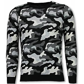 Military Sweater-Camouflage Pullover-Grey