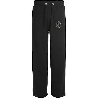 Royal Green Jackets - lizenzierte britische Armee bestickt offenen Saum Sweatpants / Jogging Bottoms