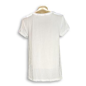 H de Halston Women's Top Essentials V-Neck Forward White A306231