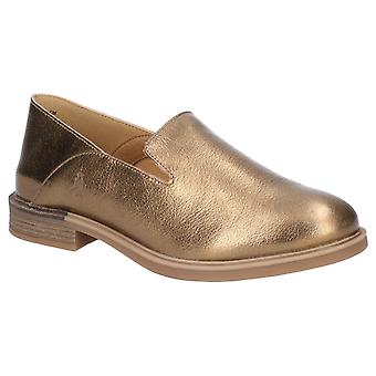 Hush Puppies Womens Bailey Bounce Slip On Shoe Antique Gold Leather