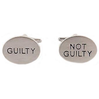 David van Hagen skyldig ikke skyldig manchetknapper-grå/sort