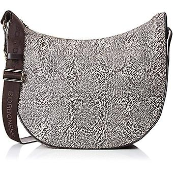 Borbonese Moon Women's Shoulder Bag (Classic Op/Brown) 35x38x15 cm (W x H x L)