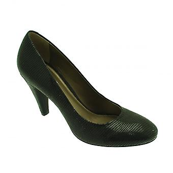 Geox Black Lizard Effect Classic Heeled Court Shoe