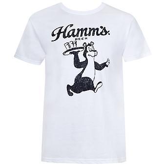 Hamm's Bear Waiter White Tee Shirt
