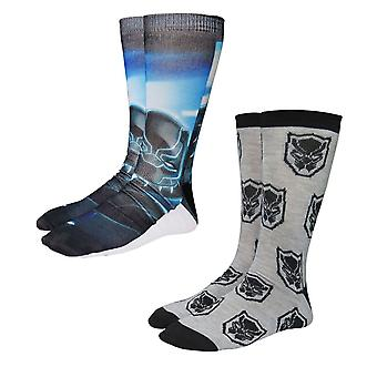 Black Panther T-apos;Challa Photoreal Chaussettes 2-Pack