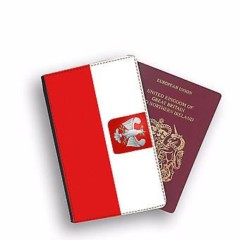 POLAND Flag Passport Holder Style Case Cover Protective Wallet Flags design