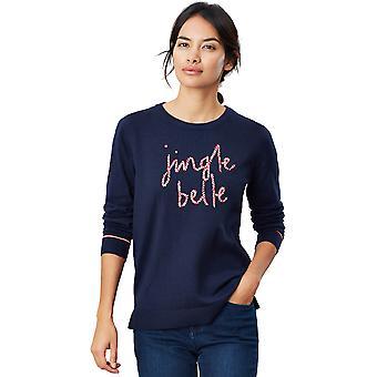 Joules dame festlig sæson slim fit Crew Neck trøje