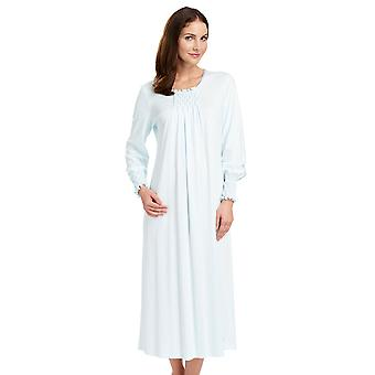 Féraud 3883037-10840 Women's Crystal Blue Cotton Night Gown Loungewear Nightdress
