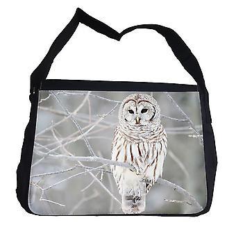 Schnee-Eule Tasche mit Schultergurt-Schultertasche