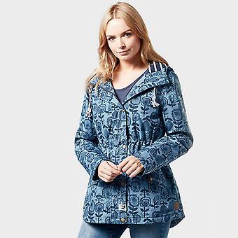 New Weird Fish Women's Agnes Showerproof Jacket Blue