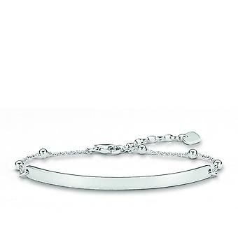 Thomas Sabo Love Bridge Silver Plain Bracelet LBA0044-001-12