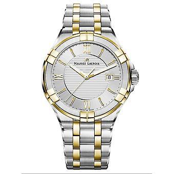 Maurice Lacroix AI1008-PVY13-132-1 Men's Aikon Date Two Tone Wristwatch