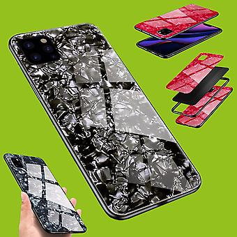 For Apple iPhone 11 Pro Max 6.5 Inch Color LUXURY Effect Glass Phone Cover Black Case Case Case New