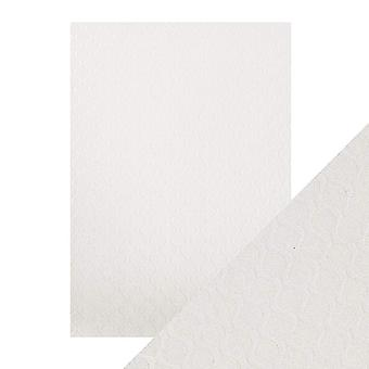 Tonic Studios Craft Perfect A4 Luxury Embossed Card, Pearl Ripple