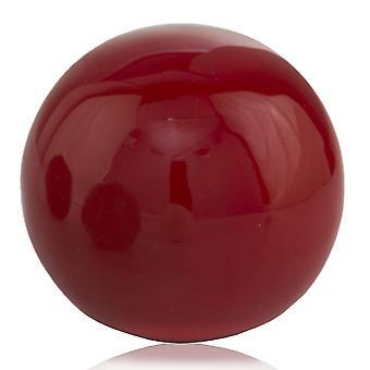 "3"" Red Poppy Enameled Aluminum Decorative Sphere"