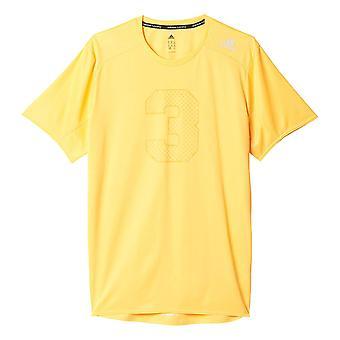 adidas Response Graphic Mens Running Fitness T-Shirt Shirt Tee Orange