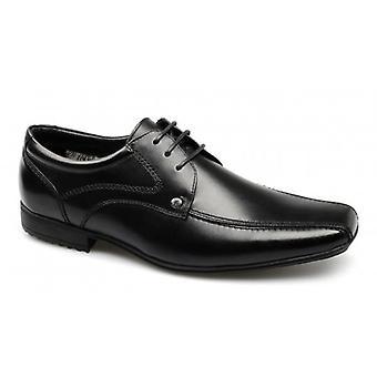Voorkant Snowden mens Leather Lace-up schoenen zwart