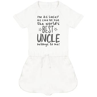 I'm As Lucky As Can Be Best Uncle belongs to me! Baby Playsuit