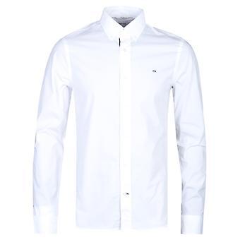 Calvin Klein Slim Fit Stretch valkoinen Popliini paita
