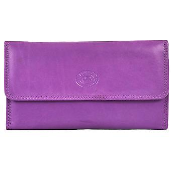 Ladies Soft Nappa Large Matinee Leather Purse (Lilac)