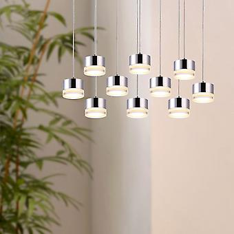 JUPITER 10 Mini Pendant Lighting  Brushed Nickel - LED Hanging Light Fixture for Kitchen Island, Bar, Foyer