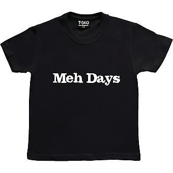 Meh Days Black Kids' T-Shirt
