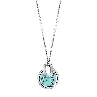 Necklace Ti Sento Poolside reflections 3887TQ-42 - necklace silver Turquoise stone and oxides of zirconium woman