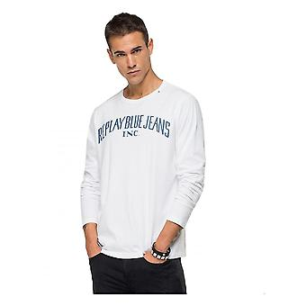 Replay Jeans Replay Long Sleeve T Shirt White