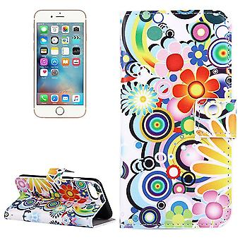 Para iPhone SE(2020), 8 e 7 Wallet Case, Colorful Fireworks Durable Protective Leather Cover