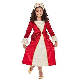 Tudor prinsesse kostume barn rød