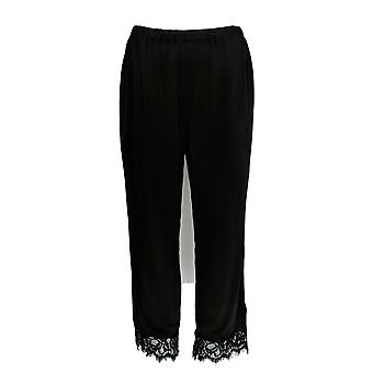 Joan Rivers Classics Collection Women's Pants Pull On Cropped Black A304317