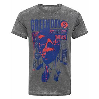 Green Day Revolution Radio Burn Out Men's T-Shirt