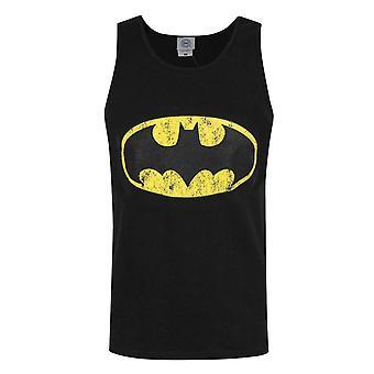 באטמן הלוגו מצוקה גברים שחורים ' גופיה של