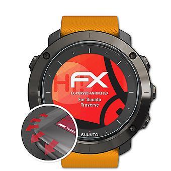 atFoliX 3x Schutzfolie kompatibel mit Suunto Traverse Folie klar&flexibel