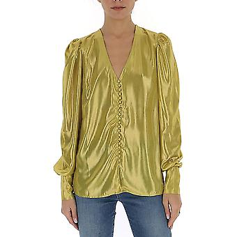 Andamane Ceciliacdgld Women's Gold Polyester Bluse
