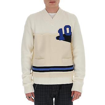 Maison Margiela S50gp0202s16968100f Men's White Cotton Sweater