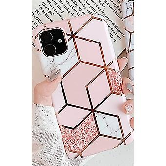 Mobile shell for iPhone X/XS different shades of pink marble patterns