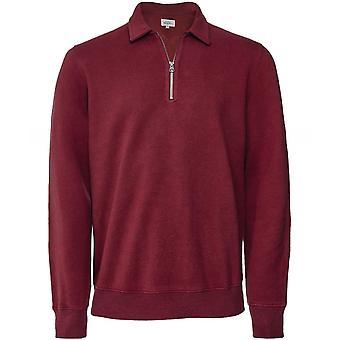 Hartford Geborsteld Fleece Half-Zip Sweatshirt