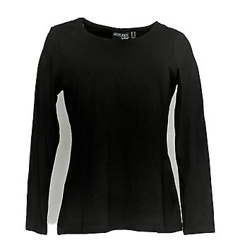 Attitudes van Renee Women's Top Finespun Jersey Long Sleeve Black A342053