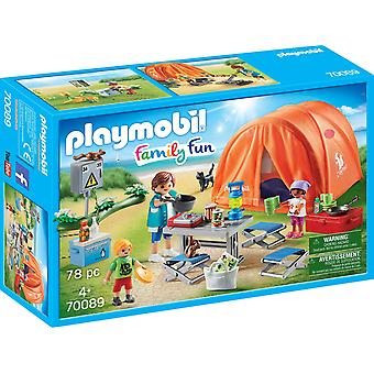 Playmobil 70089 Family Fun Camping Trip with Large Tent 78PC Playset